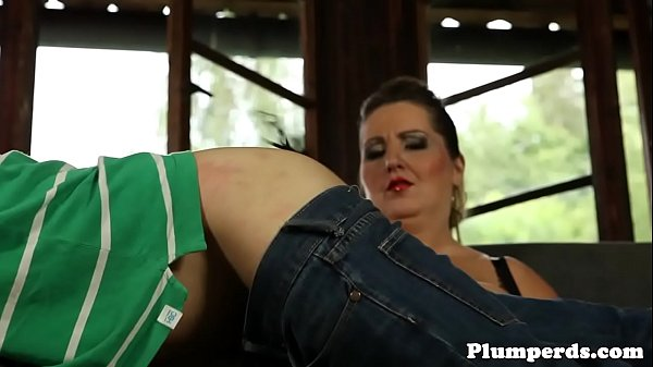Leather, Bbw handjob